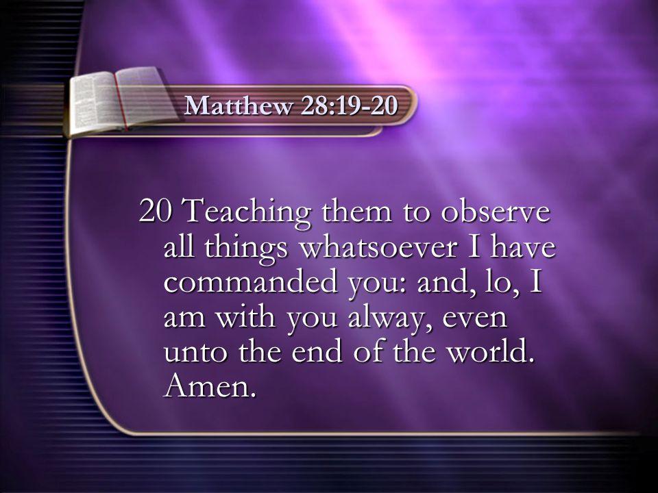 Matthew 28:19-20