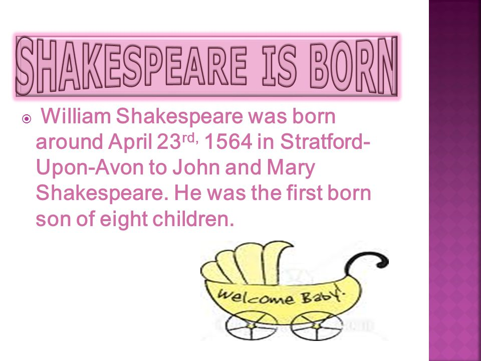 SHAKESPEARE IS BORN