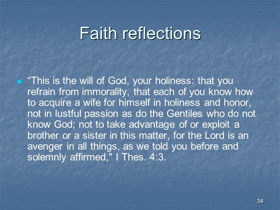 Faith reflections