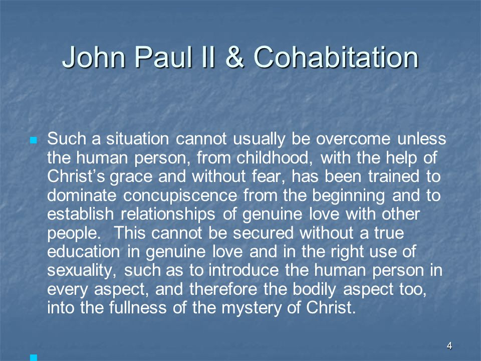 John Paul II & Cohabitation