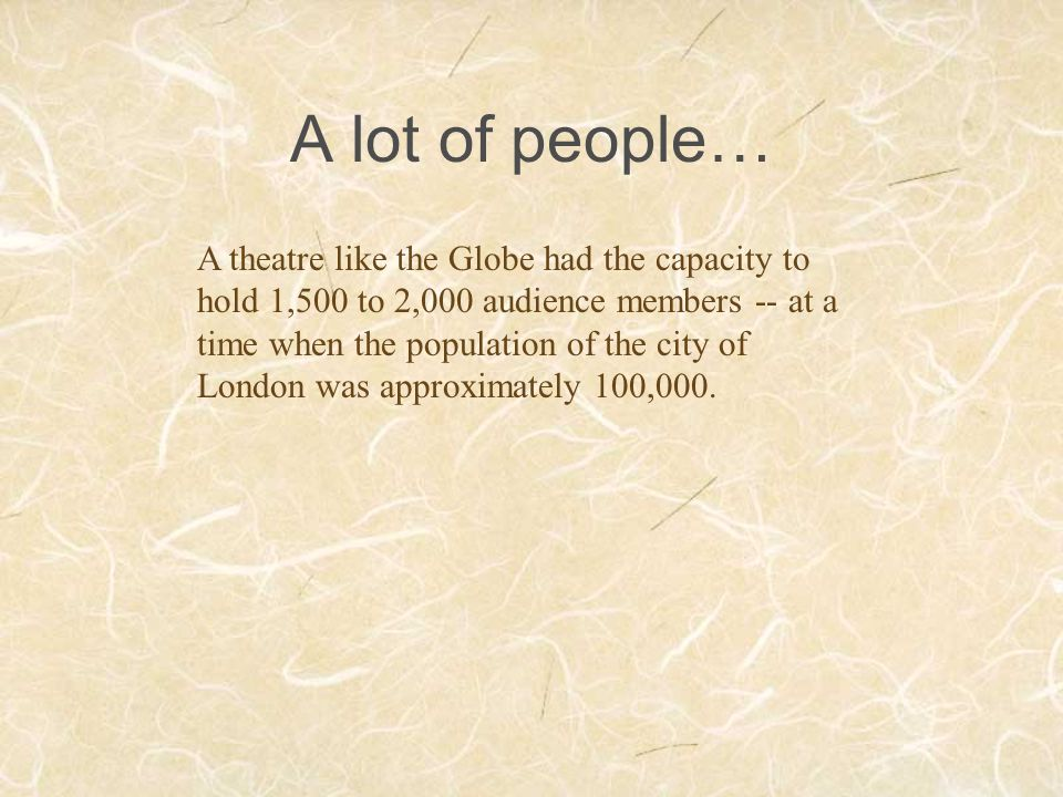 A lot of people…