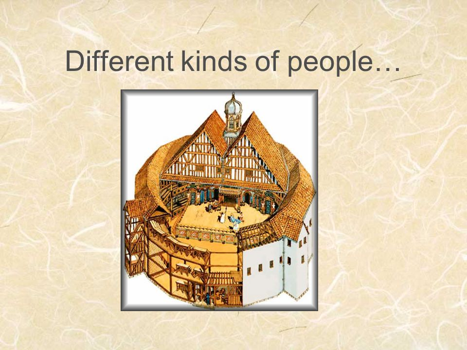 Different kinds of people…
