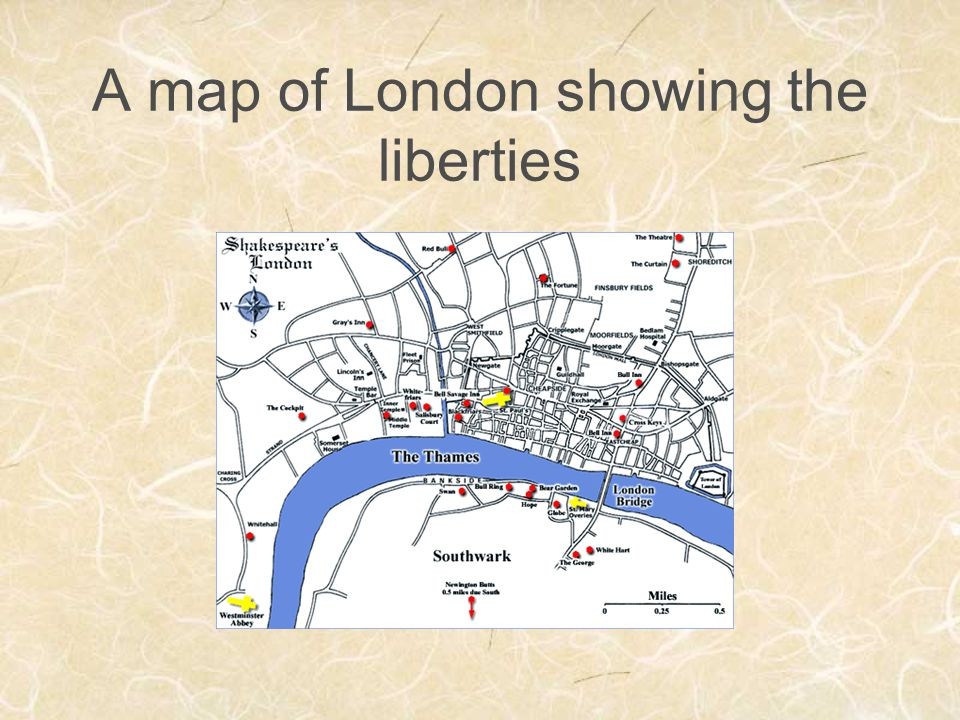 A map of London showing the liberties