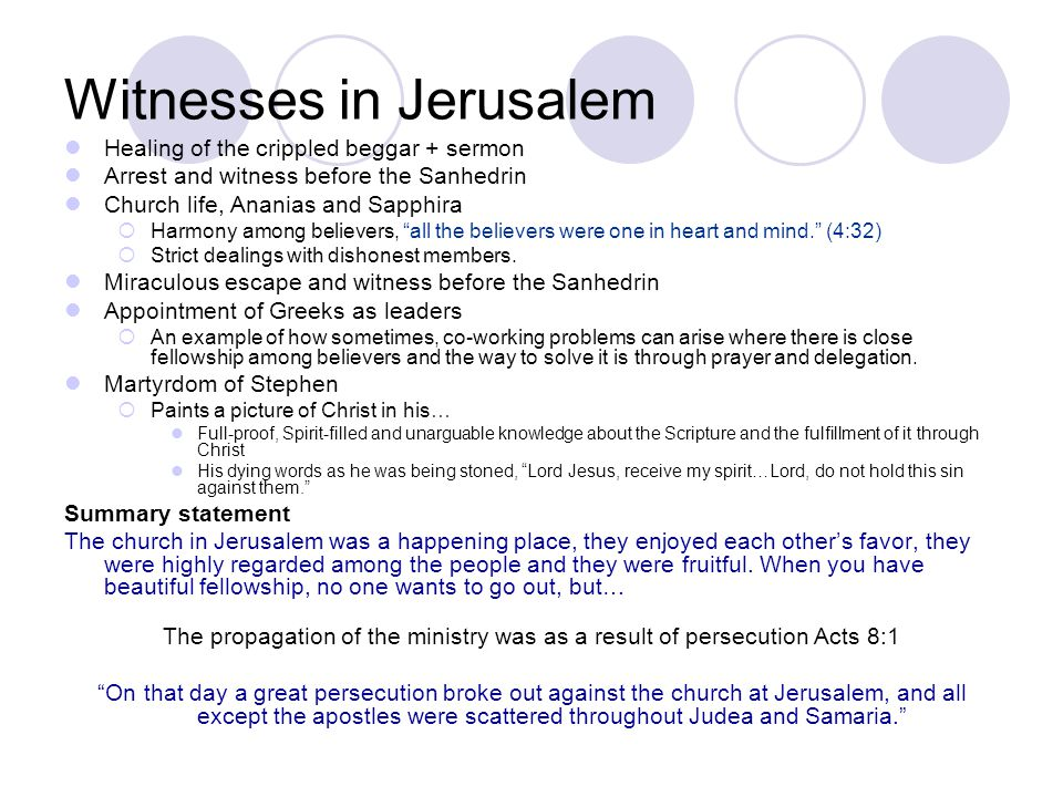 Witnesses in Jerusalem