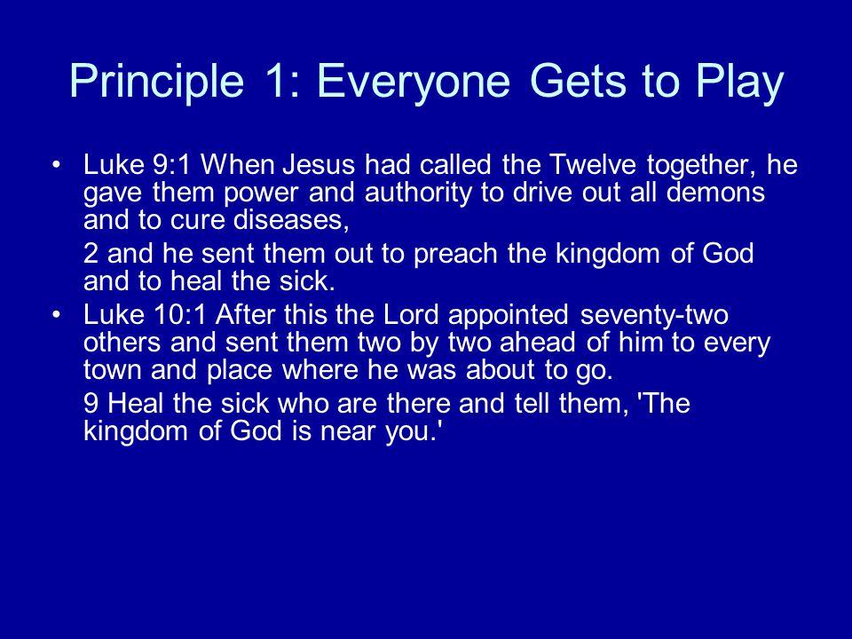 Principle 1: Everyone Gets to Play