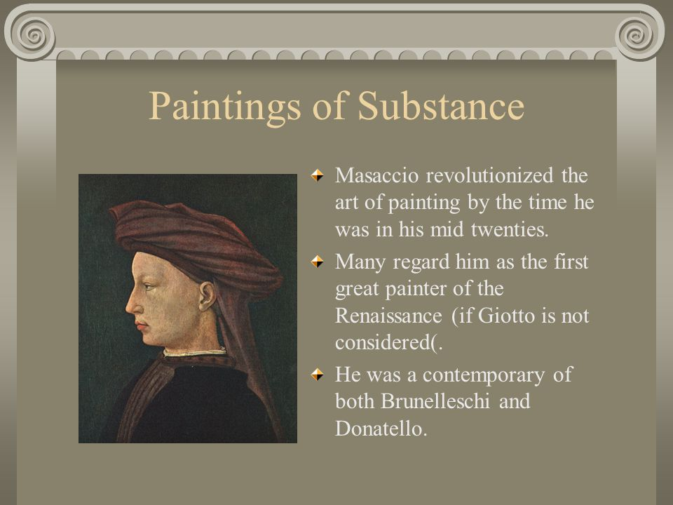Paintings of Substance