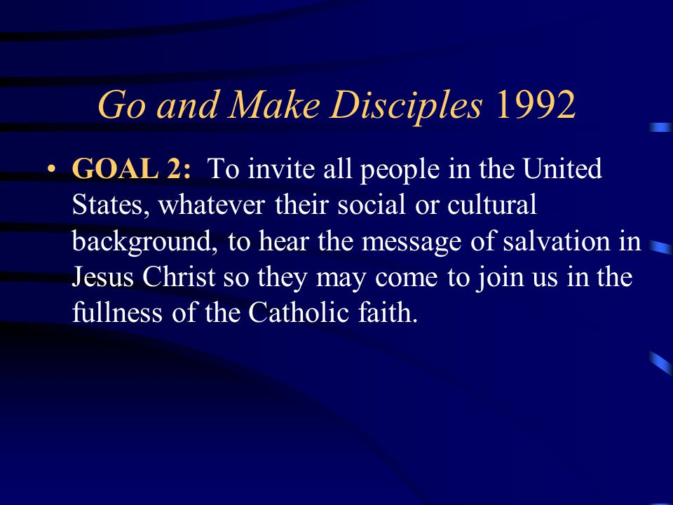 4/12/2017 Go and Make Disciples 1992.