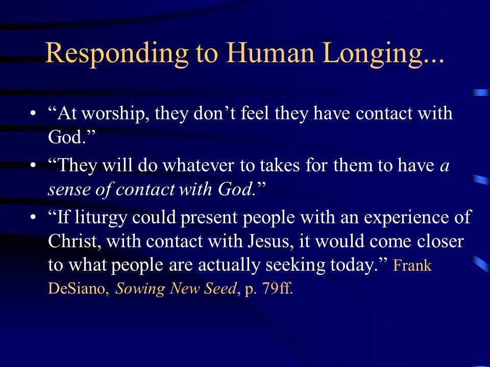 Responding to Human Longing...