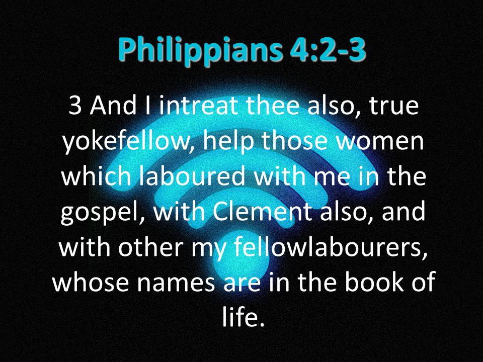 Philippians 4:2-3