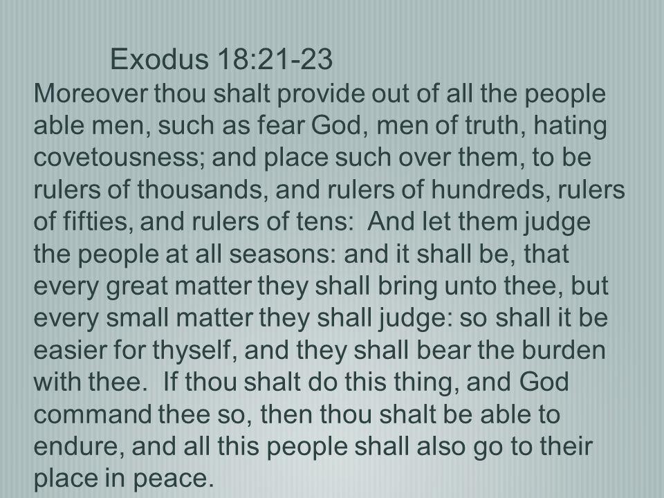 Exodus 18:21-23