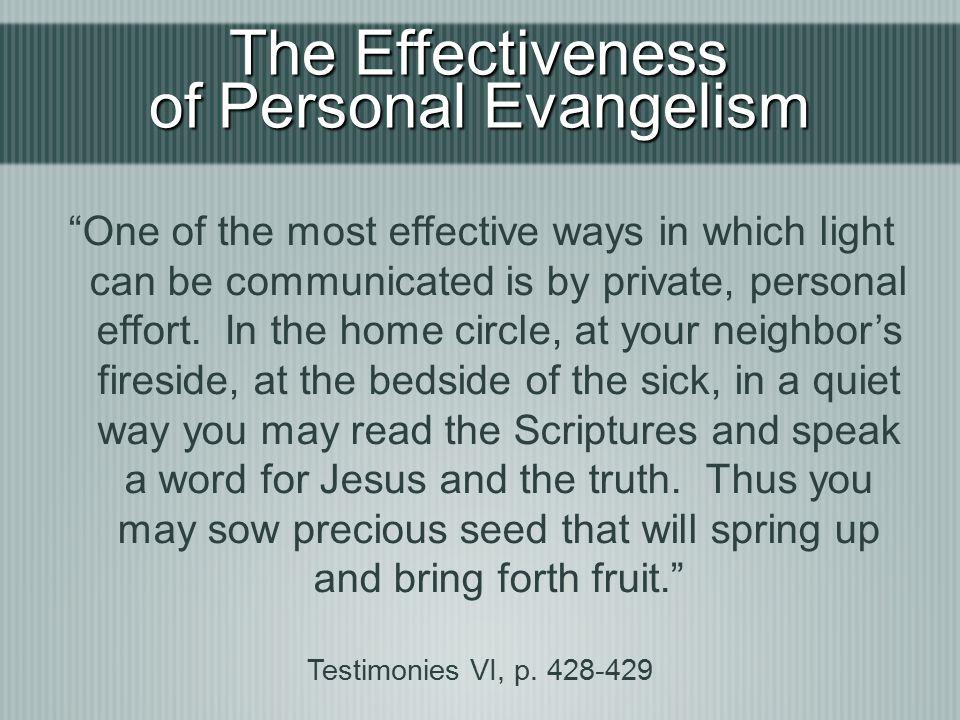 of Personal Evangelism