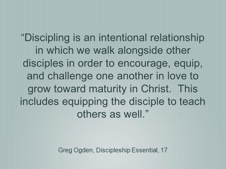 Greg Ogden, Discipleship Essential, 17