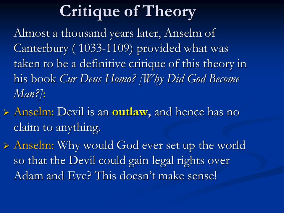 Critique of Theory