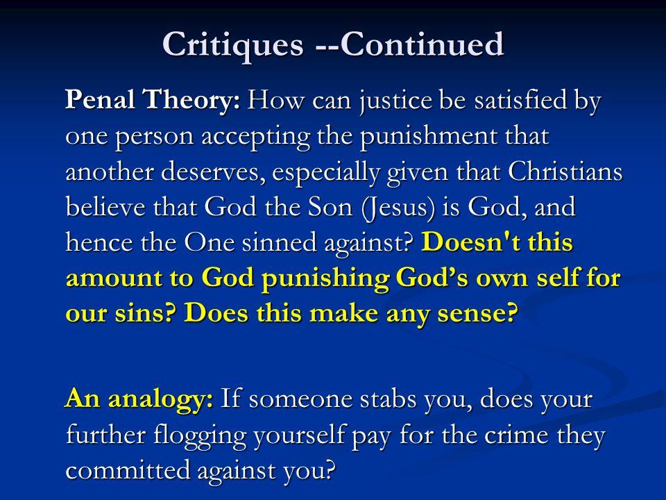 Critiques --Continued
