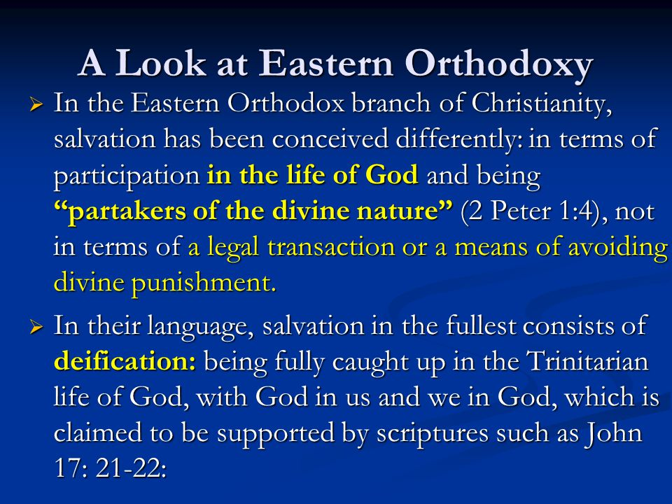 A Look at Eastern Orthodoxy