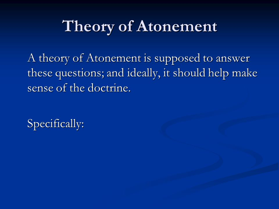 Theory of Atonement