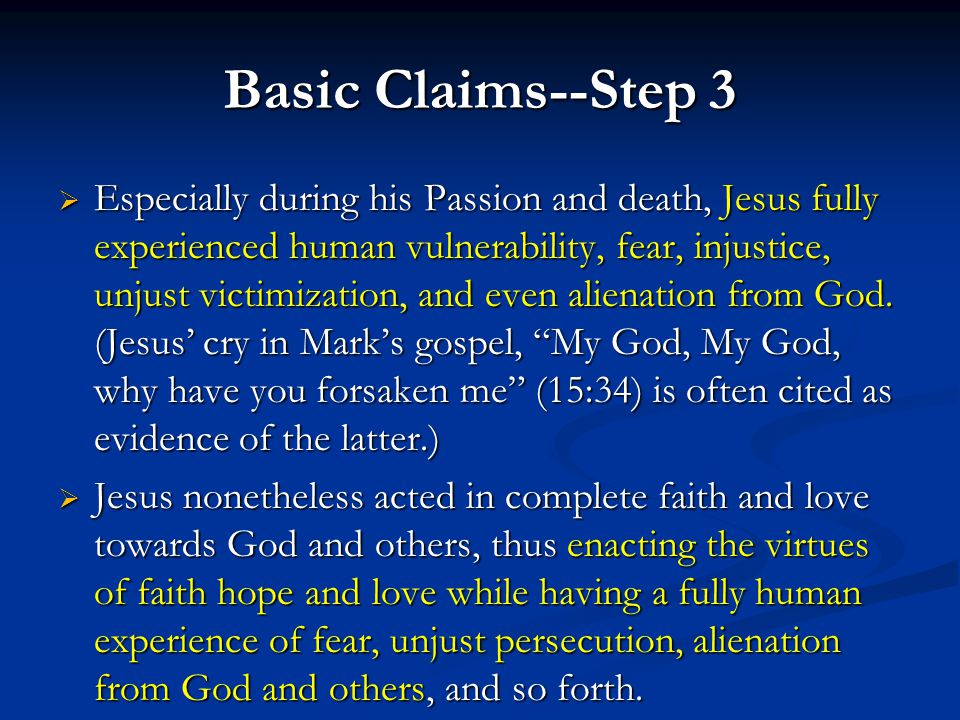 Basic Claims--Step 3
