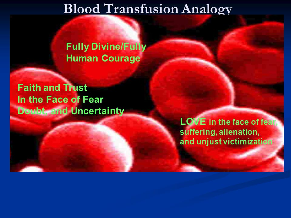 Blood Transfusion Analogy