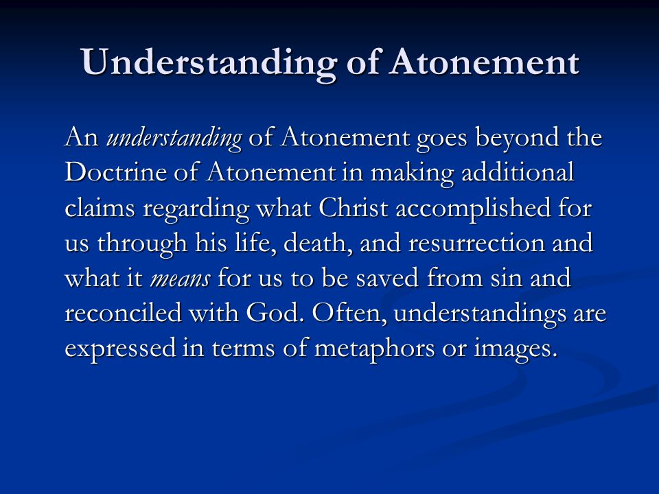 Understanding of Atonement
