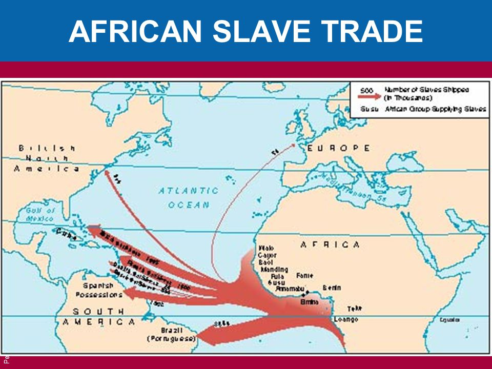 AFRICAN SLAVE TRADE Pearson Education, Inc. © 2006