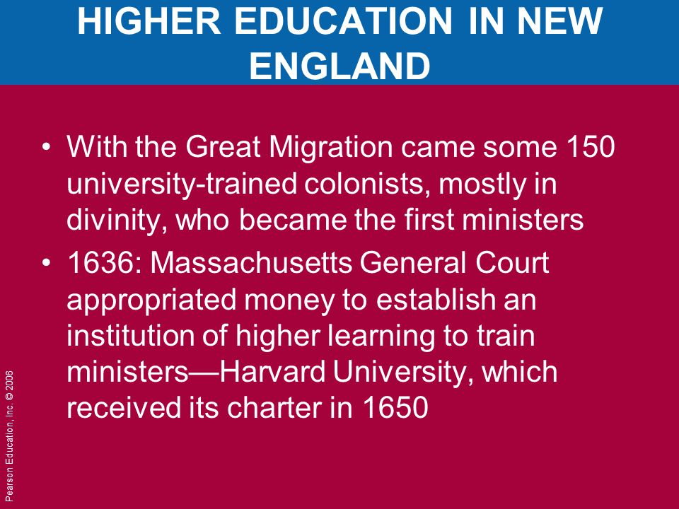 HIGHER EDUCATION IN NEW ENGLAND