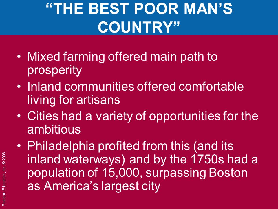THE BEST POOR MAN'S COUNTRY