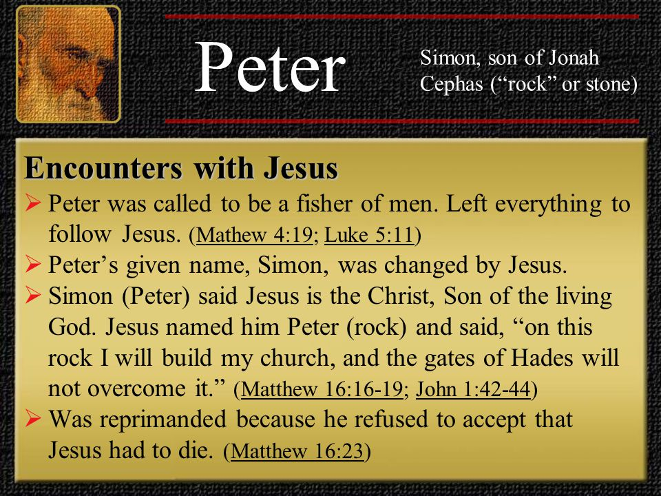 Peter Encounters with Jesus