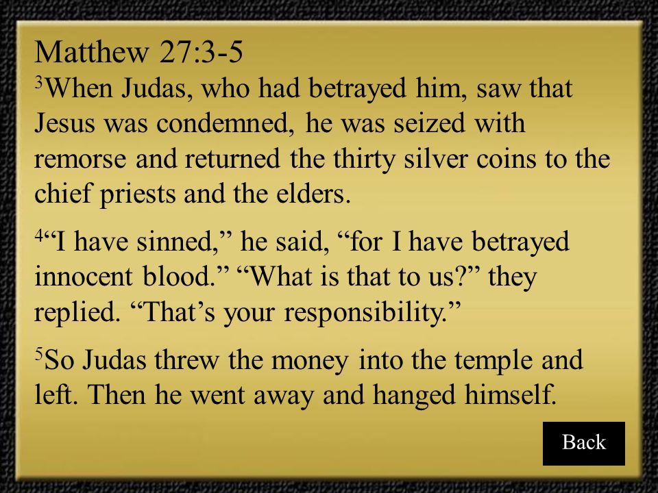 Matthew 27:3-5