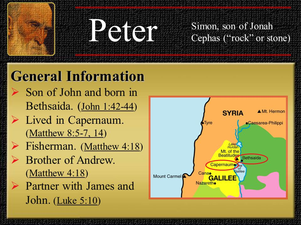 Peter General Information