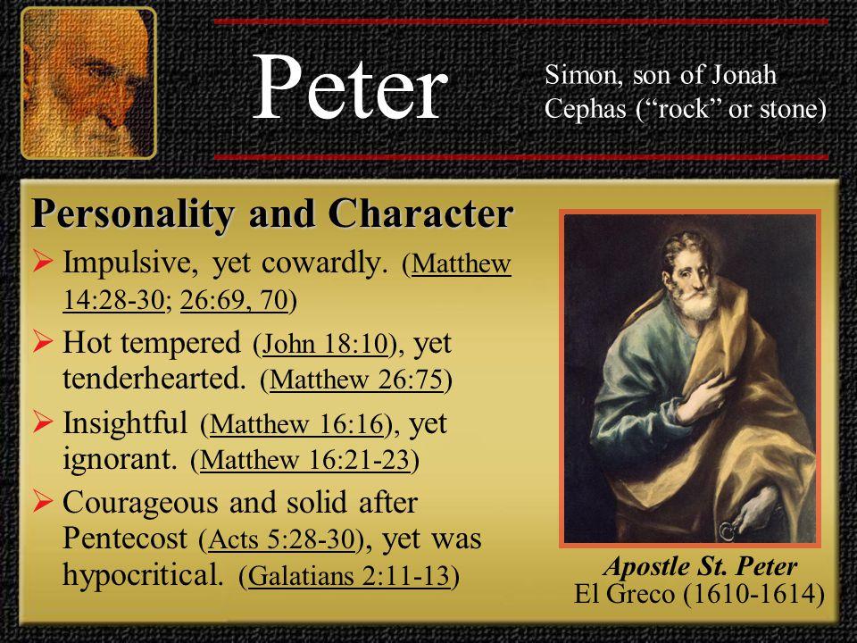 Apostle St. Peter El Greco (1610-1614)