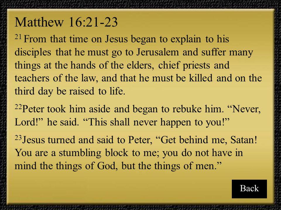 Matthew 16:21-23