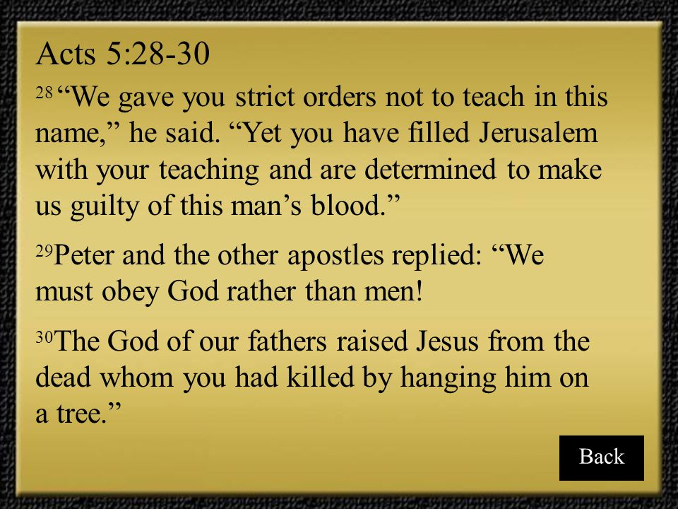 Acts 5:28-30