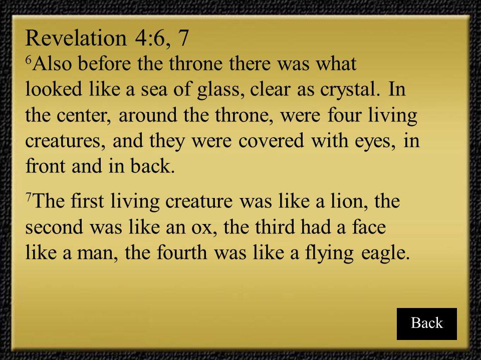 Revelation 4:6, 7