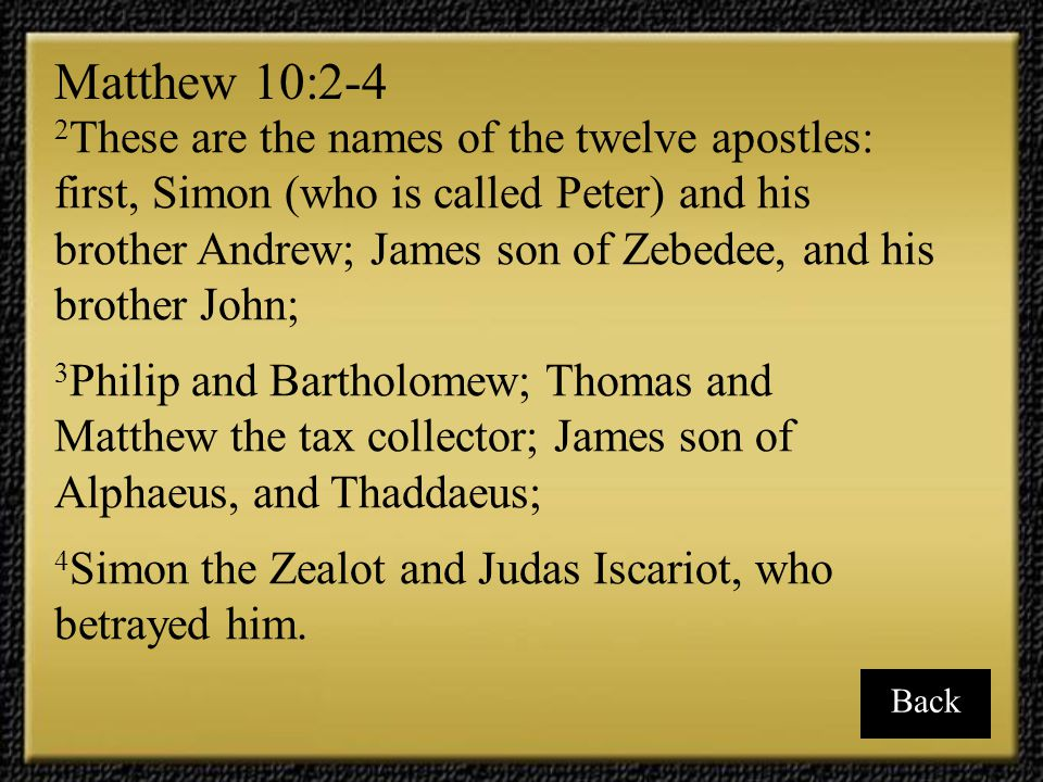 Matthew 10:2-4