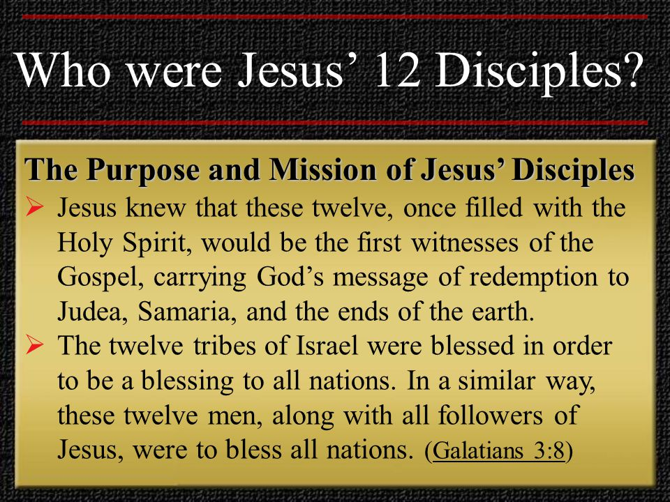 Who were Jesus' 12 Disciples