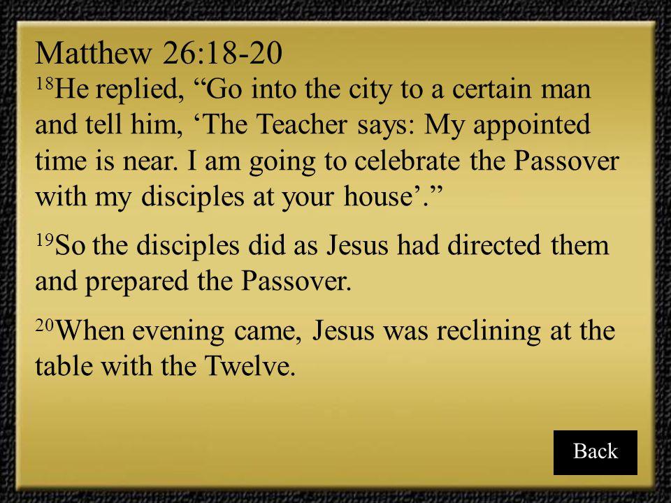 Matthew 26:18-20