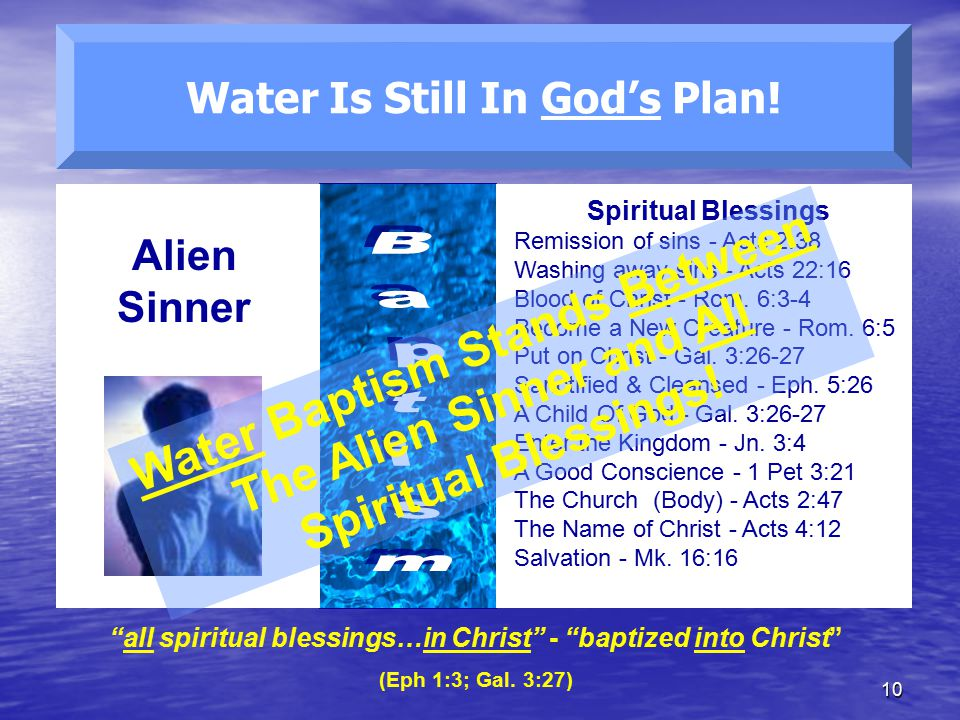 Water Is Still In God's Plan!