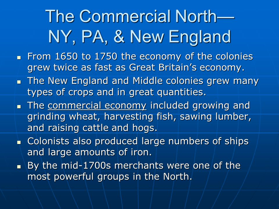 The Commercial North— NY, PA, & New England