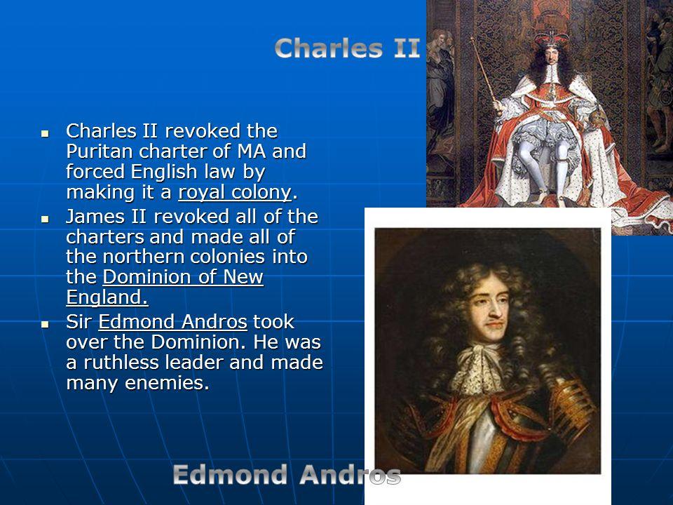 Charles II Edmond Andros