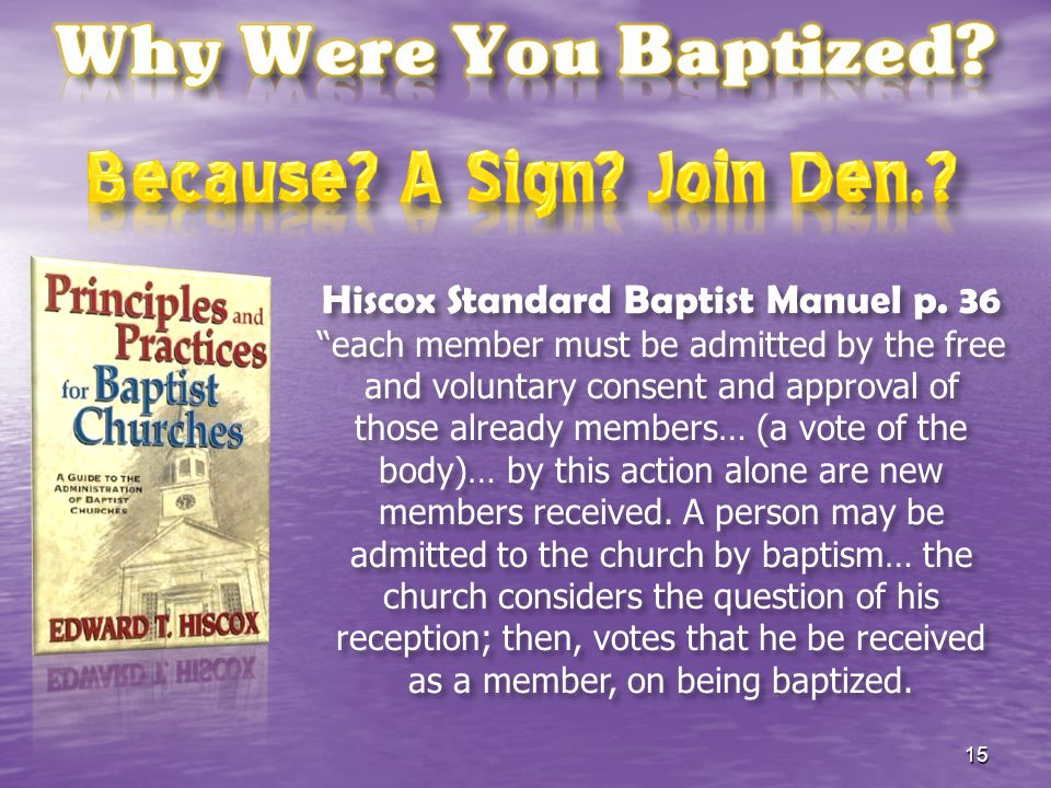 Hiscox Standard Baptist Manuel p. 36