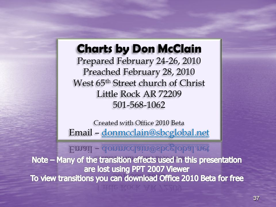 Charts by Don McClain Prepared February 24-26, 2010