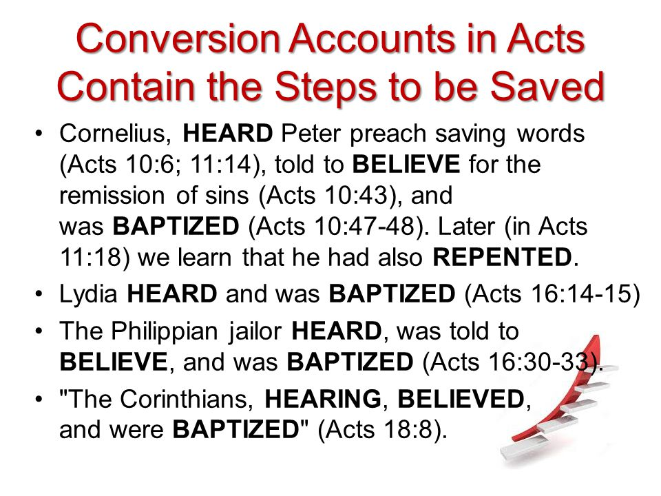 Conversion Accounts in Acts Contain the Steps to be Saved