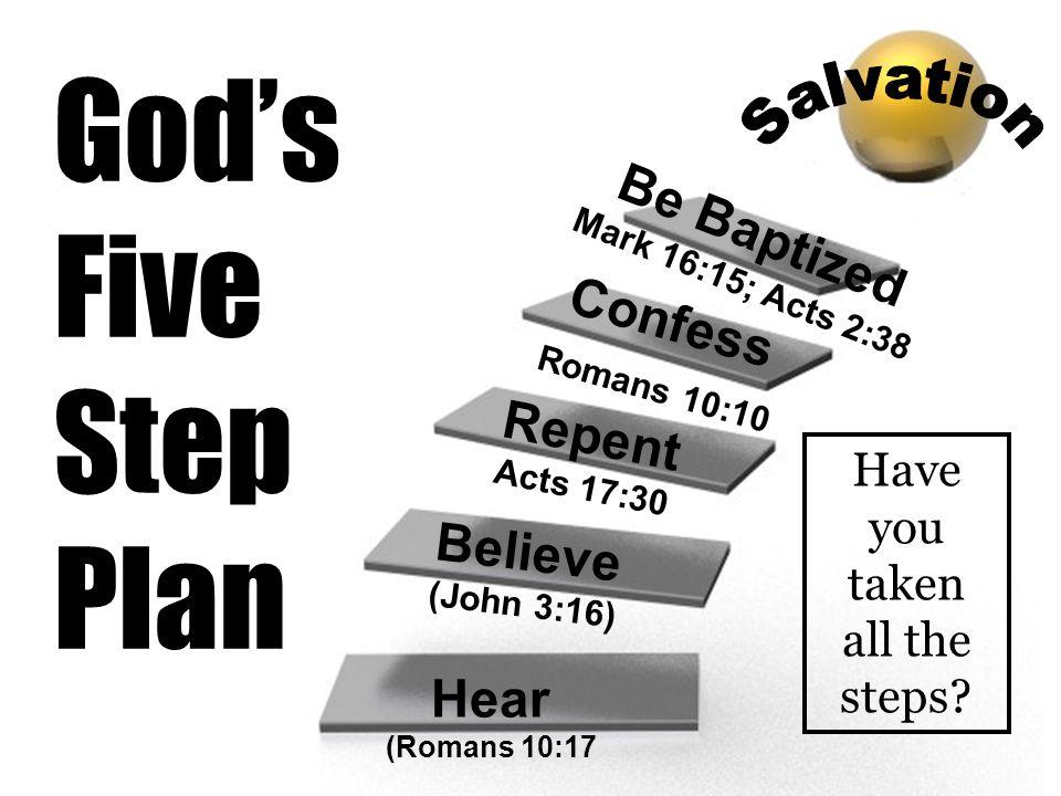 Be Baptized Mark 16:15; Acts 2:38