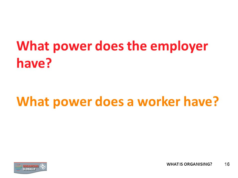 What power does the employer have