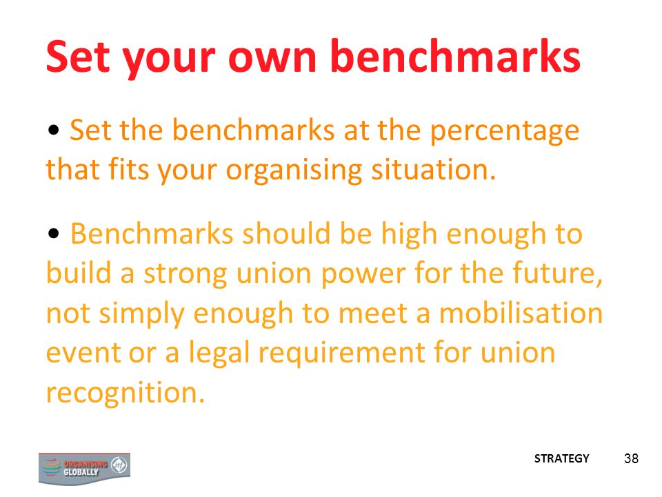 Set your own benchmarks