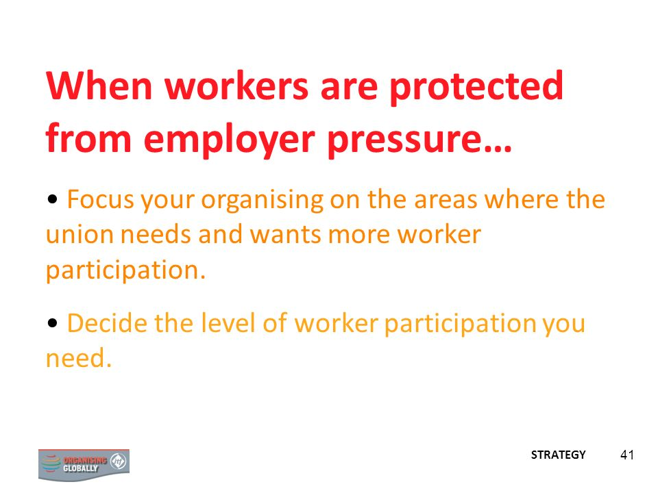 When workers are protected from employer pressure…