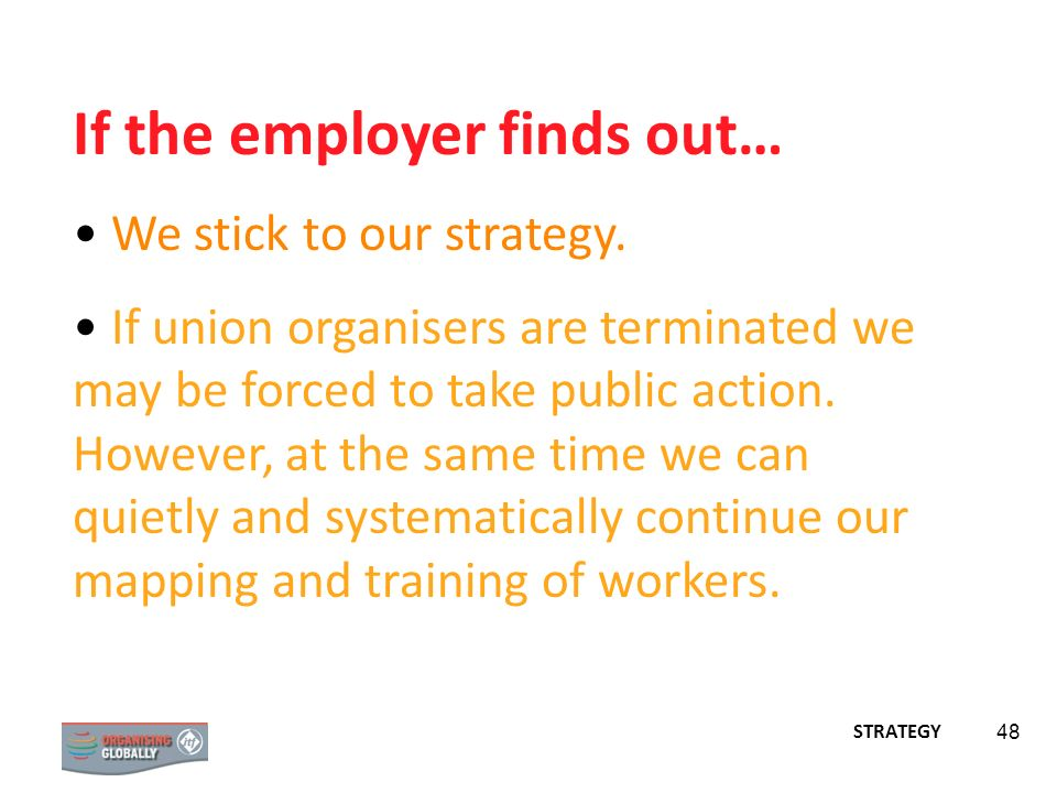 If the employer finds out…