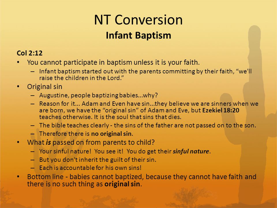 NT Conversion Infant Baptism