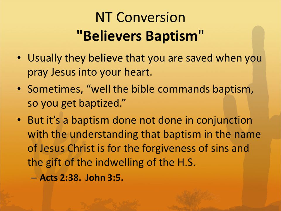 NT Conversion Believers Baptism