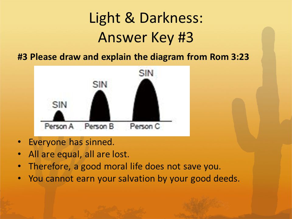 Light & Darkness: Answer Key #3